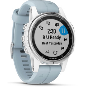 Garmin fenix 5S Plus Smartwatch, white/seafoam